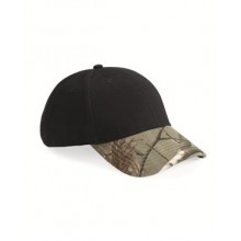 Solid Crown with Camo Visor Cap