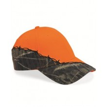 Camo with Barbed Wire Embroidery Cap