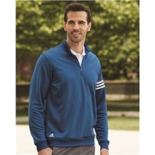 3-Stripes French Terry Quarter-Zip Pullover