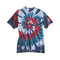 Multi-Color Cut-Spiral Short Sleeve T-ShirtTie Dyed200T2Dyenomite